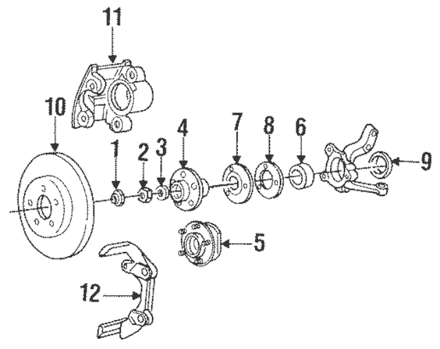 1988-2017 Mopar Hub & Bearing Nut Lock 4293167AB