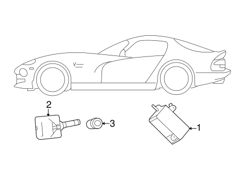 Tire Pressure Monitor Components for 2016 Dodge Viper