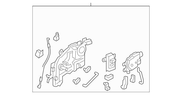 2005-2010 Honda ODYSSEY 5-DOOR Latch Assembly, R Slide