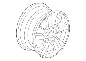 2008-2010 Honda ACCORD SEDAN Disk, Aluminum Wheel (16x6 1