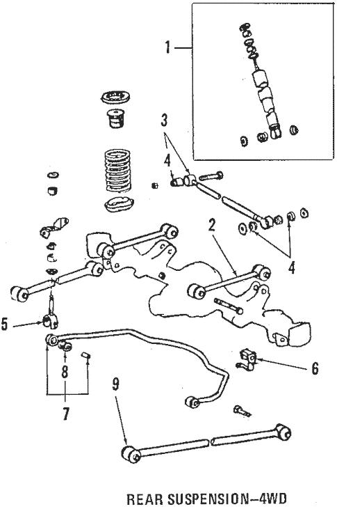 Genuine OEM Rear Suspension Parts for 1991 Toyota Corolla