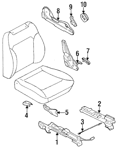 TRACKS & COMPONENTS for 1999 Subaru Legacy