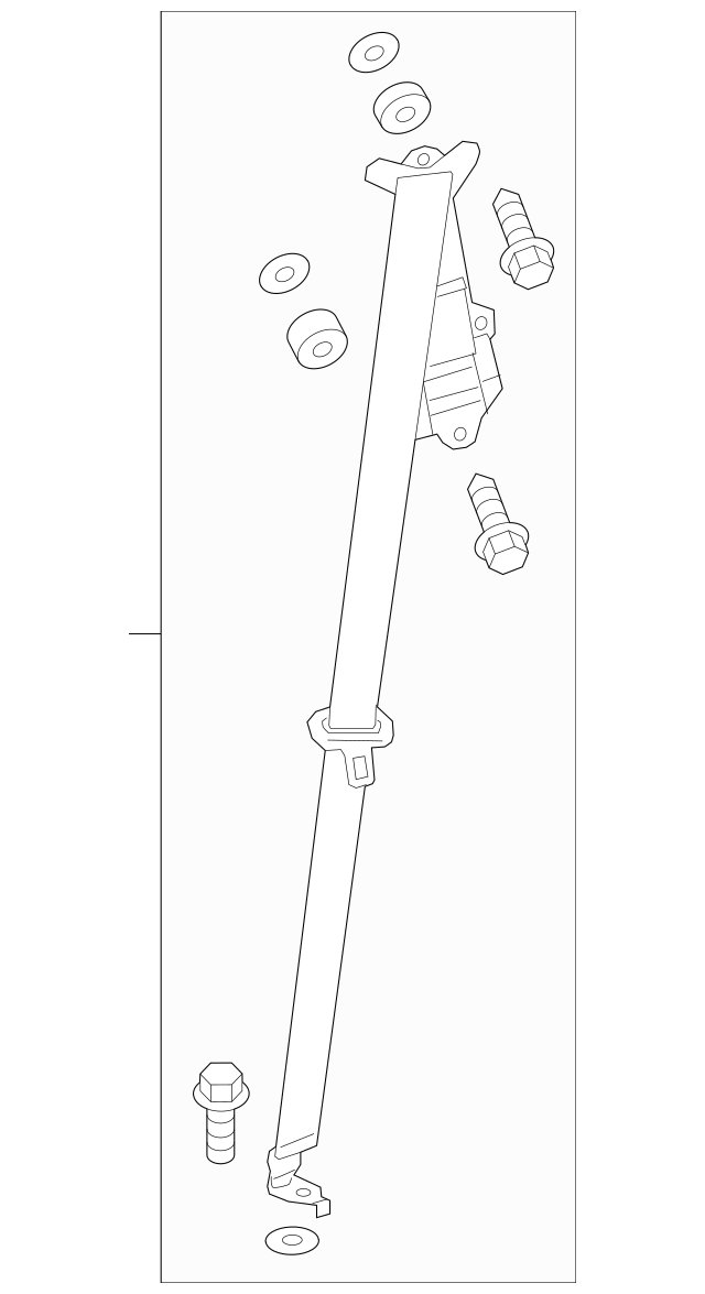 2016 Honda PILOT 5-DOOR Outer Set, L Rear Seat Belt