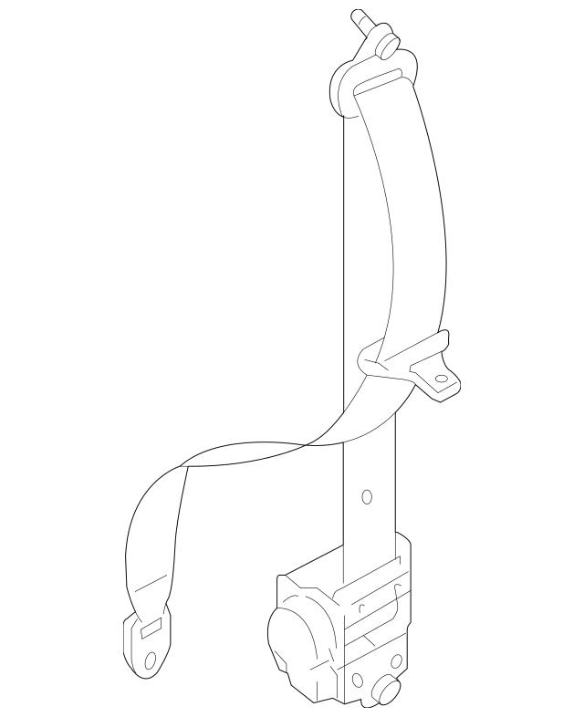 2010-2015 Mazda CX-9 Belt & Retractor TDY1-57-L90B-75