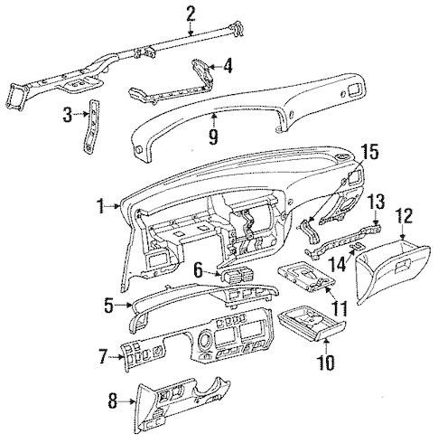 Genuine OEM INSTRUMENT PANEL Parts for 1994 Toyota Land
