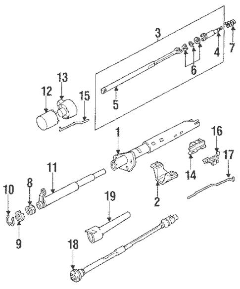Steering Column Components for 1991 Oldsmobile Bravada