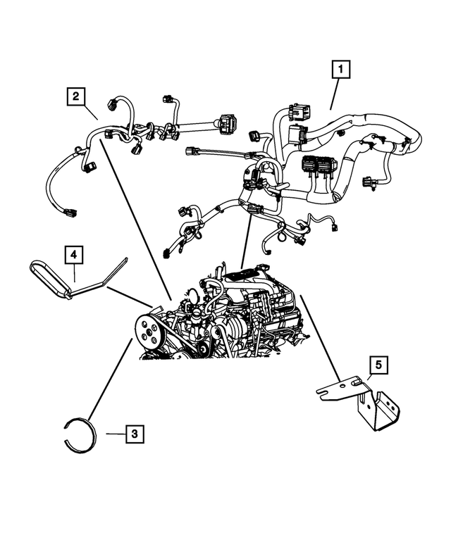 Genuine OEM [Brand] Engine Wiring Part# 4801901ab Fits
