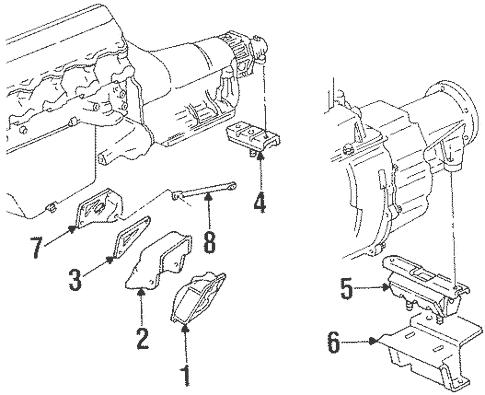 OEM 1992 Chevrolet C1500 Engine & Trans Mounting Parts