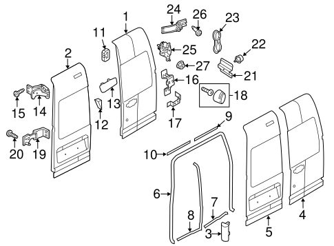DOOR & COMPONENTS for 2010 Ford Transit Connect