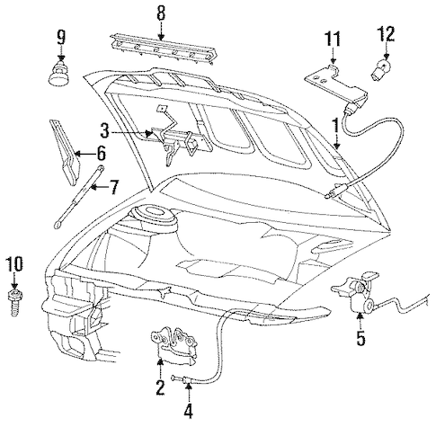 HOOD & COMPONENTS for 1997 Chrysler Concorde