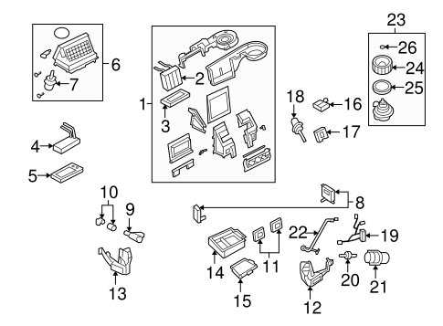 Evaporator & Heater Components for 2006 Ford Explorer