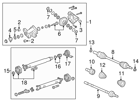 OEM 2015 Chevrolet Caprice Axle & Differential Parts