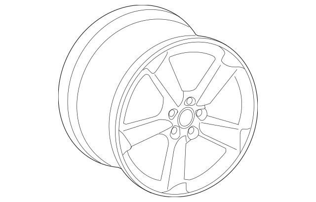 2011-2015 Audi TT Quattro Wheel, Alloy 8J0-601-025-DB