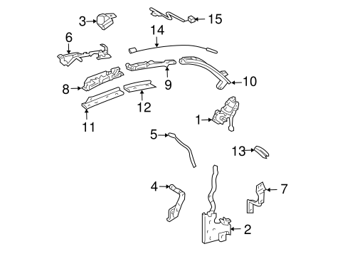 Genuine OEM Convertible Top Parts for 2008 Toyota Solara