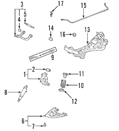 OEM 2004 Buick Rendezvous Rear Suspension Parts