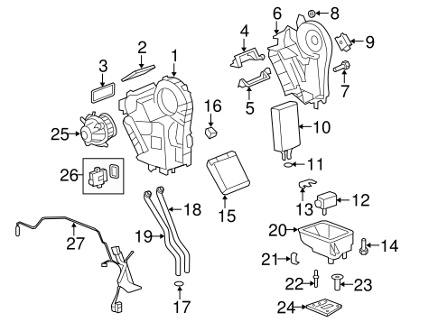Evaporator & Heater Components for 2014 GMC Acadia
