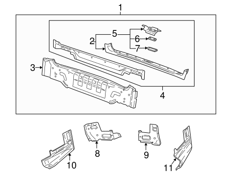 REAR BODY PANEL for 2003 Saturn LW300