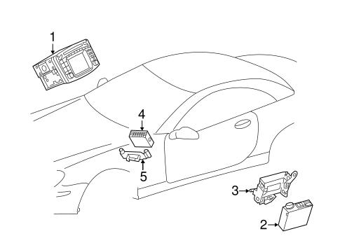 Navigation System Components for 2009 Mercedes-Benz SL 550