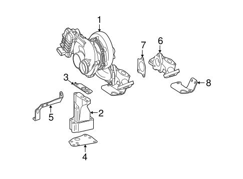 Turbocharger & Components for 2008 Mercedes-Benz GL 320