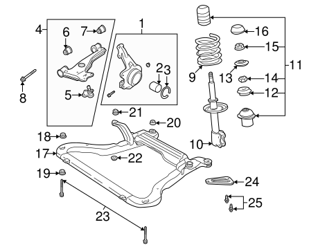 OEM 2003 Saturn L200 Suspension Components Parts