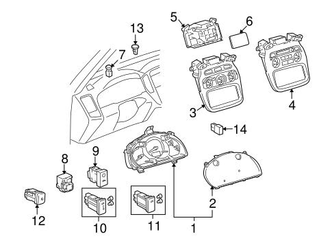 Genuine OEM Instruments & Gauges Parts for 2006 Toyota