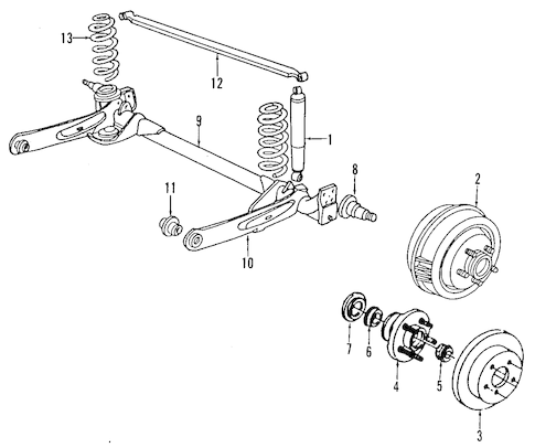 Axle Assembly for 1994 Chrysler LeBaron|4778752 : Quirk
