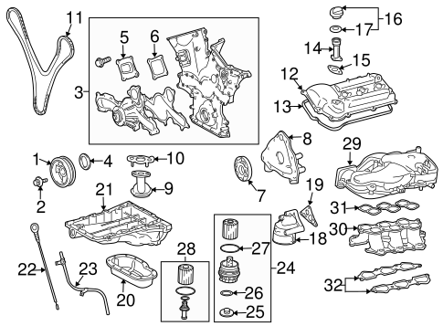 Genuine OEM Filters Parts for 2016 Toyota 4Runner SR5