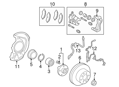 Genuine OEM FRONT BRAKES Parts for 2012 Toyota Avalon