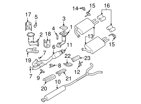 EXHAUST COMPONENTS for 2004 Nissan Maxima