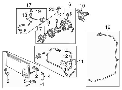 OEM 2004 Pontiac GTO Condenser, Compressor & Lines Parts