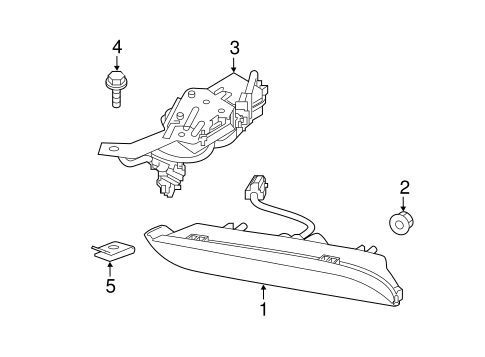 Daytime Running Lamp Components for 2014 Nissan Juke