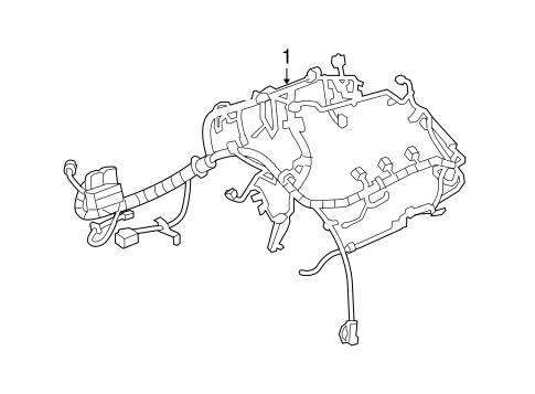 OEM 2013 Chevrolet Equinox Wiring Harness Parts