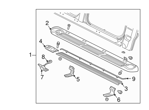 OEM 2000 Ford Expedition Running Board Parts