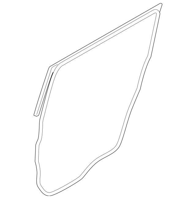 2009-2019 Ford Flex Door Weather-Strip AA8Z-7425325-B
