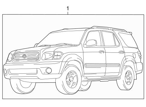 Genuine OEM STRIPE TAPE Parts for 2002 Toyota Sequoia SR5