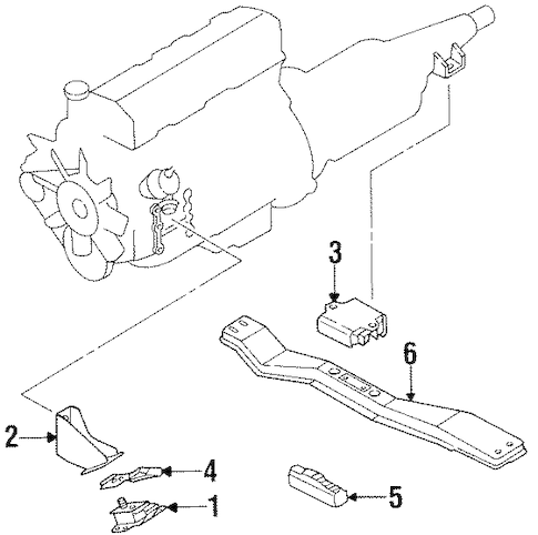 ENGINE & TRANS MOUNTING for 1993 Nissan D21