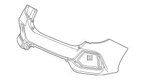 2020 Honda CIVIC 5-DOOR Face, Rear Bumper 04715-TGG-A50ZZ