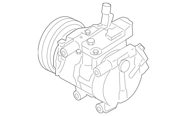 2010-2011 Hyundai Accent Compressor Assembly 97701-1E100