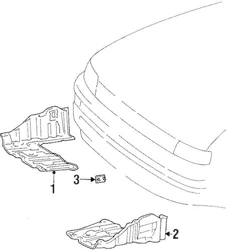 OEM 1999 Chevrolet Prizm Splash Shields Parts