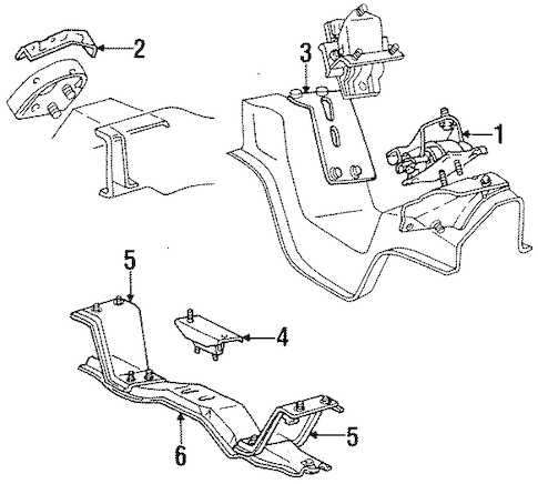 ENGINE & TRANS MOUNTING for 1994 Ford F-350