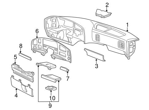 INSTRUMENT PANEL for 1994 Ford E-350 Econoline