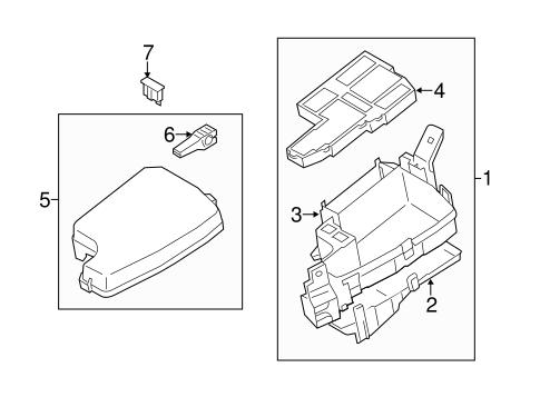 Mazda 3 Fuse Relay Junction Box Parts