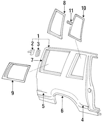 QUARTER PANEL & COMPONENTS for 1993 Ford Explorer