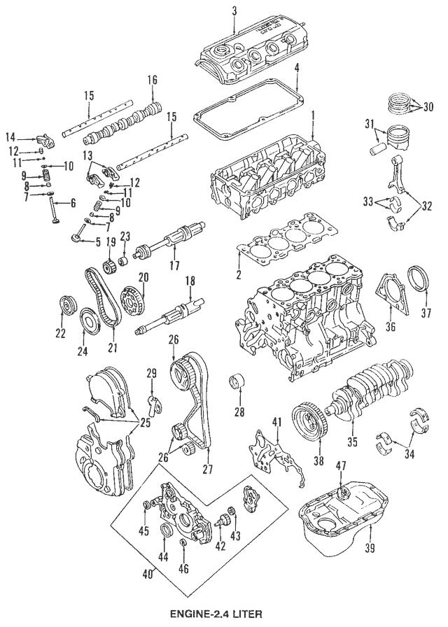 1993-2005 Mitsubishi Intake Rocker Arm MD167980
