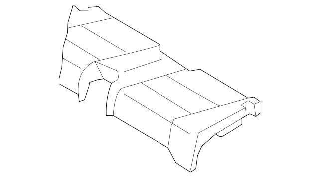 Genuine OEM 2008-2013 Volvo C70 Cushion Cover 39803440