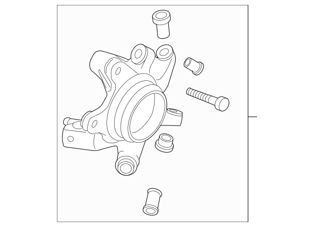 2004-2008 Mazda RX-8 Knuckle Assembly F151-26-12XA