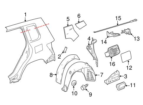 Quarter Panel & Components for 2014 Mercedes-Benz GLK 250