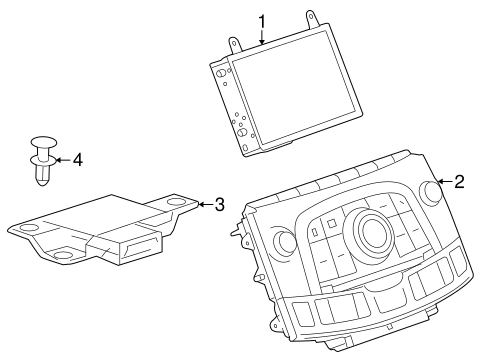Navigation System Components for 2010 Buick LaCrosse