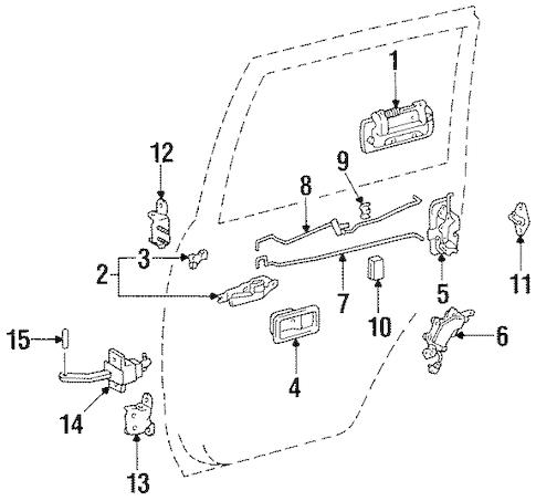 Genuine OEM REAR DOOR Parts for 1996 Toyota Land Cruiser