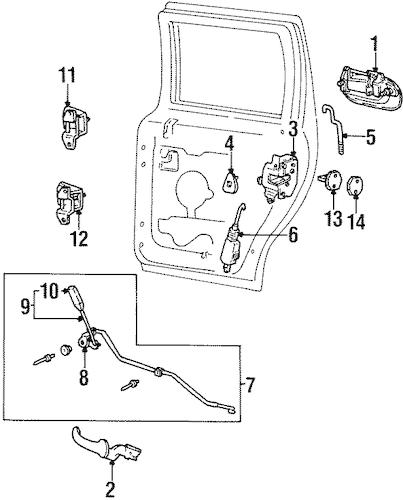 Rear Door for 1999 Lincoln Navigator